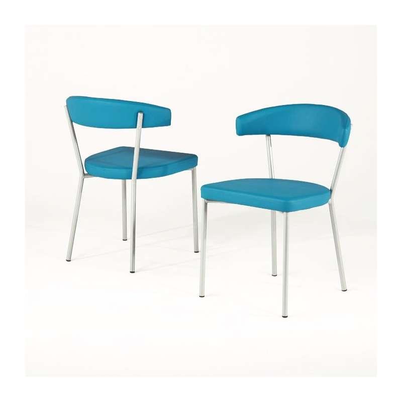 chaise de cuisine en m tal elli 4 pieds tables. Black Bedroom Furniture Sets. Home Design Ideas