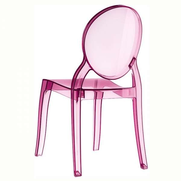 Chaise moderne en plexi transparent rose Elizabeth - 11