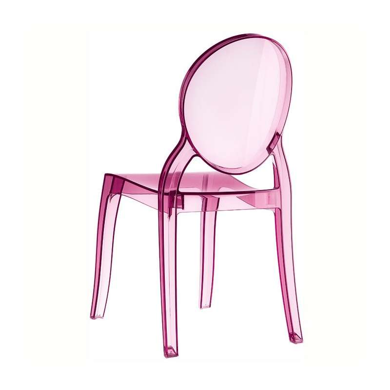 chaise de style en polycarbonate transparent elizabeth