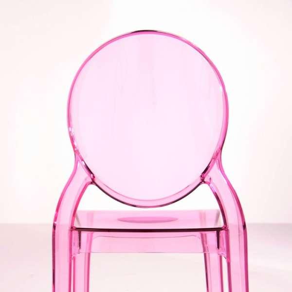 Chaise médaillon en plexi transparent rose Elizabeth - 12