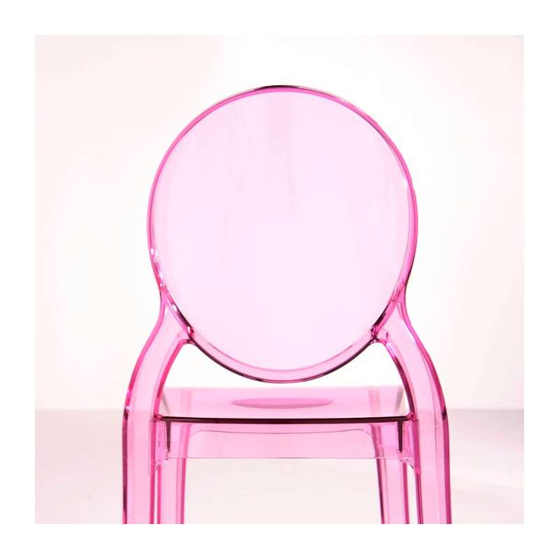 Chaise de style en polycarbonate transparent elizabeth for Chaise rose