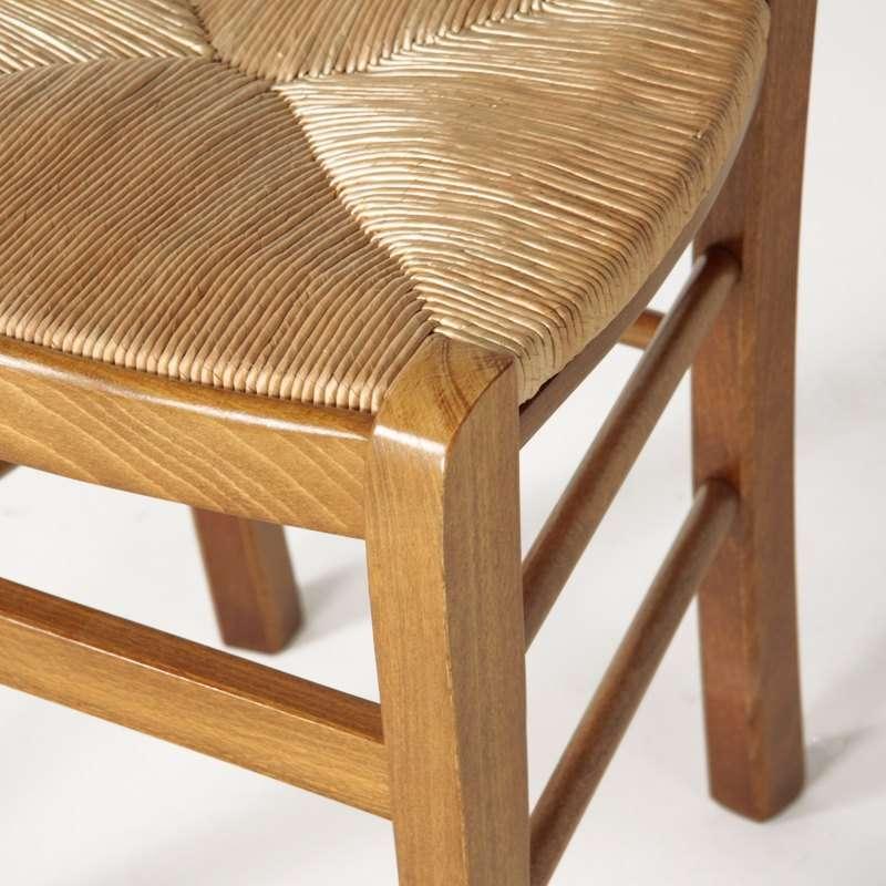 4 pieds vente en ligne for Chaise cuisine bois paille