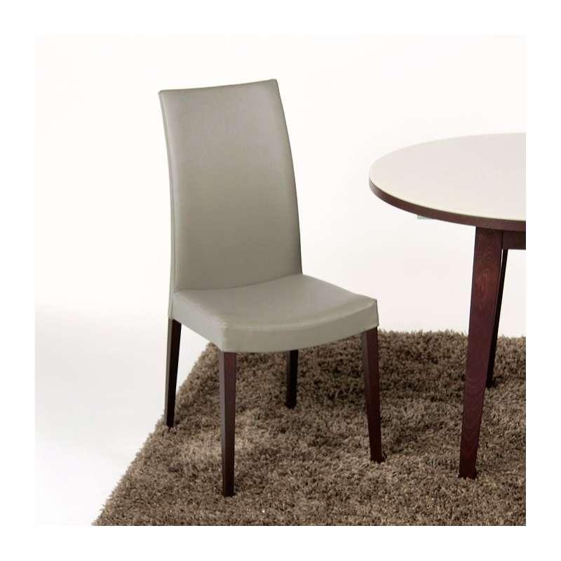 Chaise de salle manger contemporaine en bois tortora 4 pieds tables chaises et tabourets Chaises contemporaine