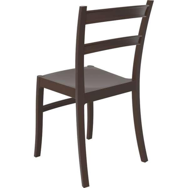 Chaise marron en plastique - Tiffany - 10