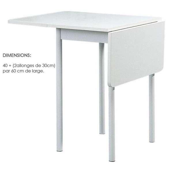 Table d'appoint de cuisine en stratifié 80 x 60 cm - TKP68 3 - 3