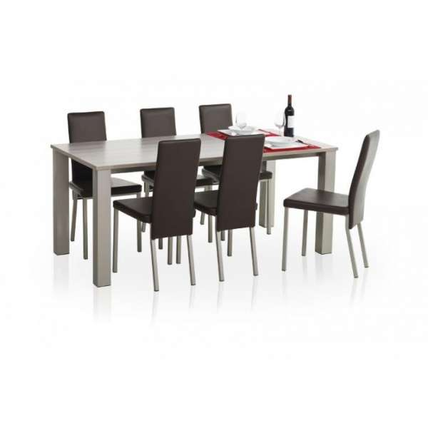 Table de cuisine en stratifi quinta hauteur 75cm 4 for Table de cuisine en stratifie