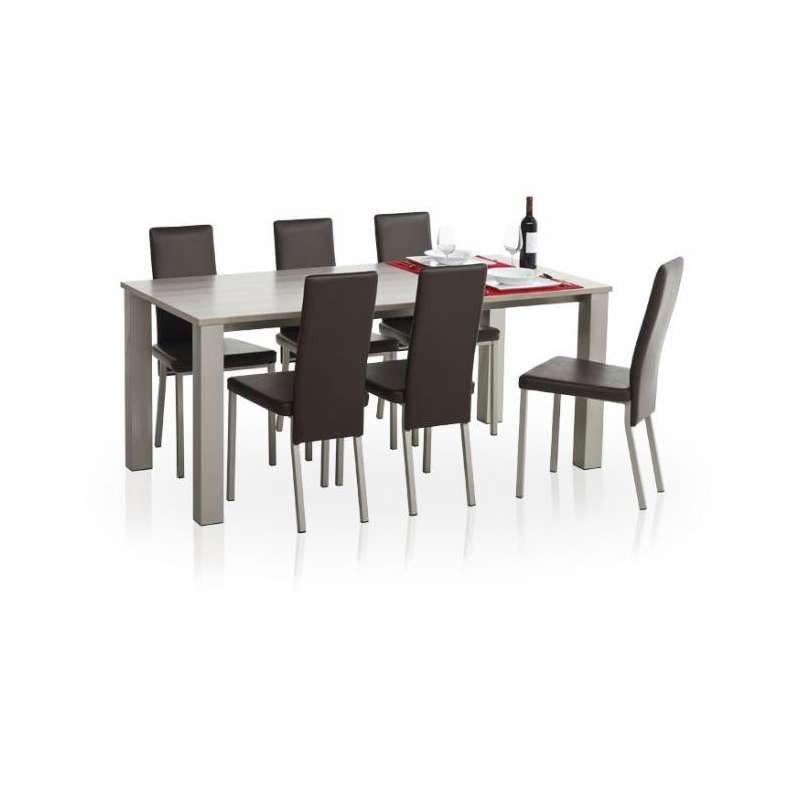 Table de cuisine en stratifi quinta hauteur 75cm 4 pieds tables chaises et tabourets for Hauteur table de cuisine