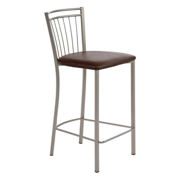 Tabouret de bar ou snack de cuisine viva 4 pieds tables chaises et tabou - Tabouret bar aubergine ...