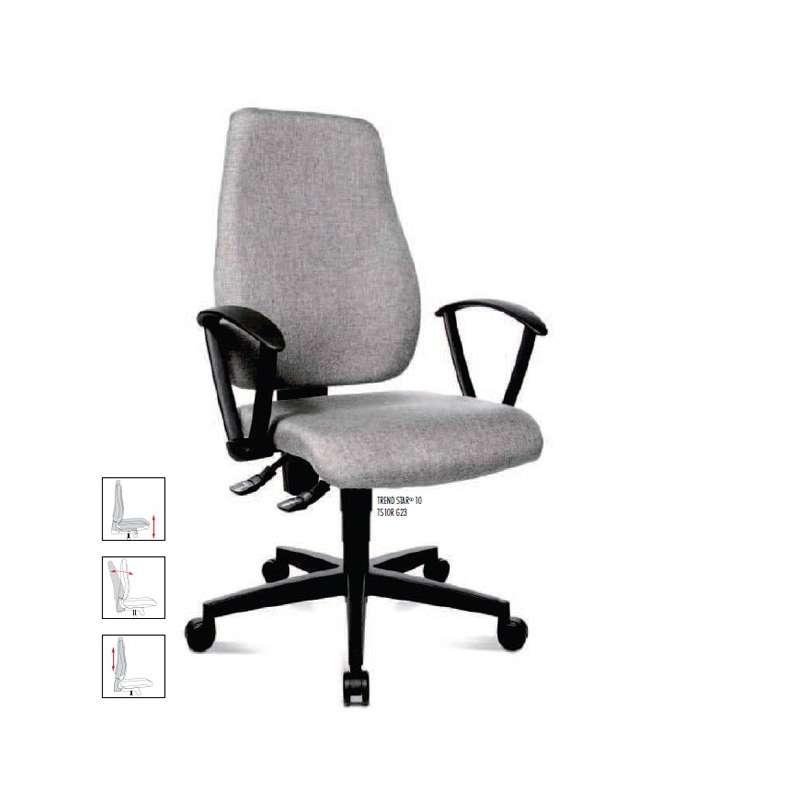 chaise de bureau trendstar avec accoudoirs 4 pieds tables chaises et tabourets. Black Bedroom Furniture Sets. Home Design Ideas