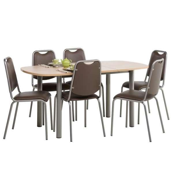 Table de cuisine lustra en stratifi avec allonge 4 - Table avec tabouret cuisine ...