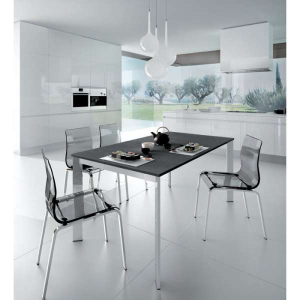 Table design rectangulaire extensible - Universe130 Domitalia®