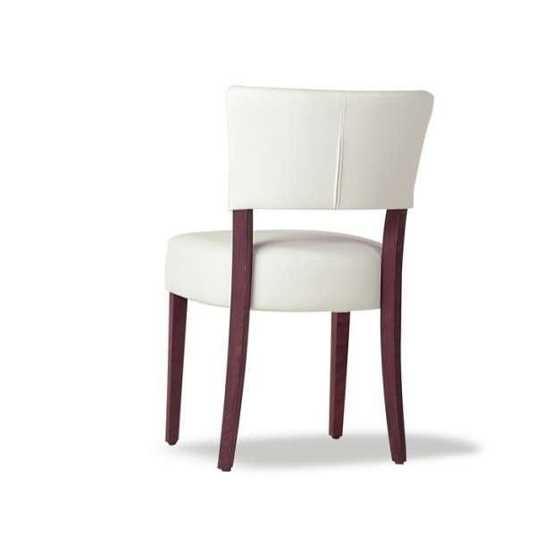 Chaise moderne en vinyl et bois - Steffi 5 - 5