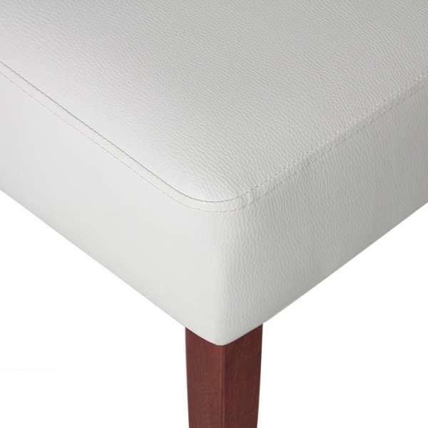 Chaise contemporaine en vinyl blanc - Steffi - 8