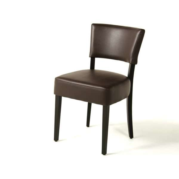Chaise contemporaine en vinyl marron - Steffi - 12