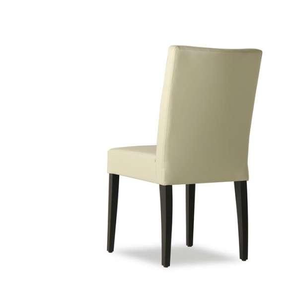 Chaise contemporaine en vinyl et bois – Matias - 2