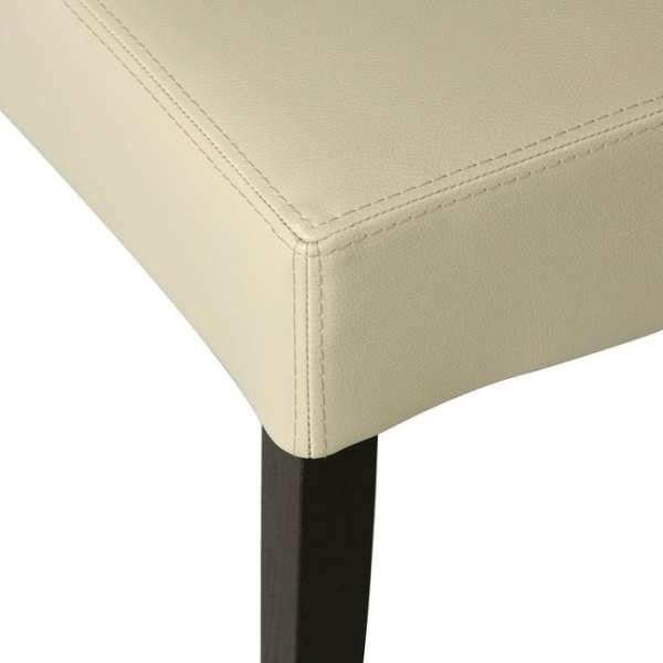 Chaise moderne en synthétique et bois – Matias - 5