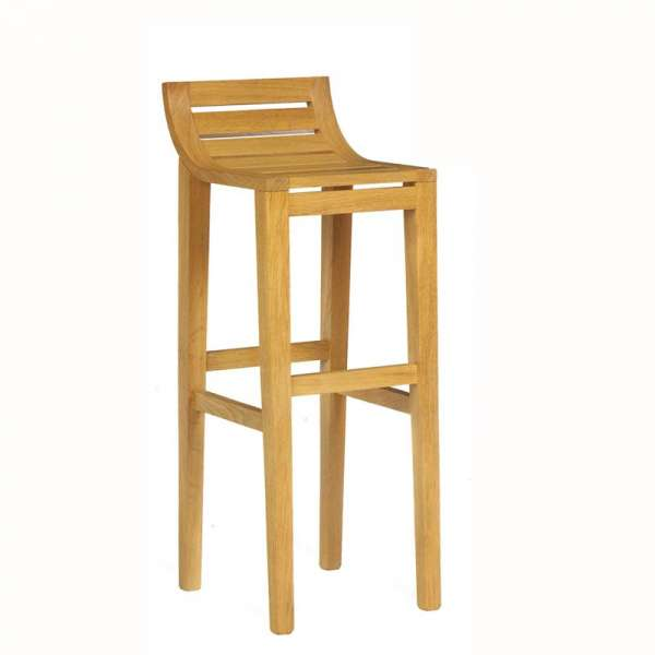 Tabouret de bar ou snack contemporain en bois massif ref 471 4 pieds tables chaises et for Tabouret bar contemporain