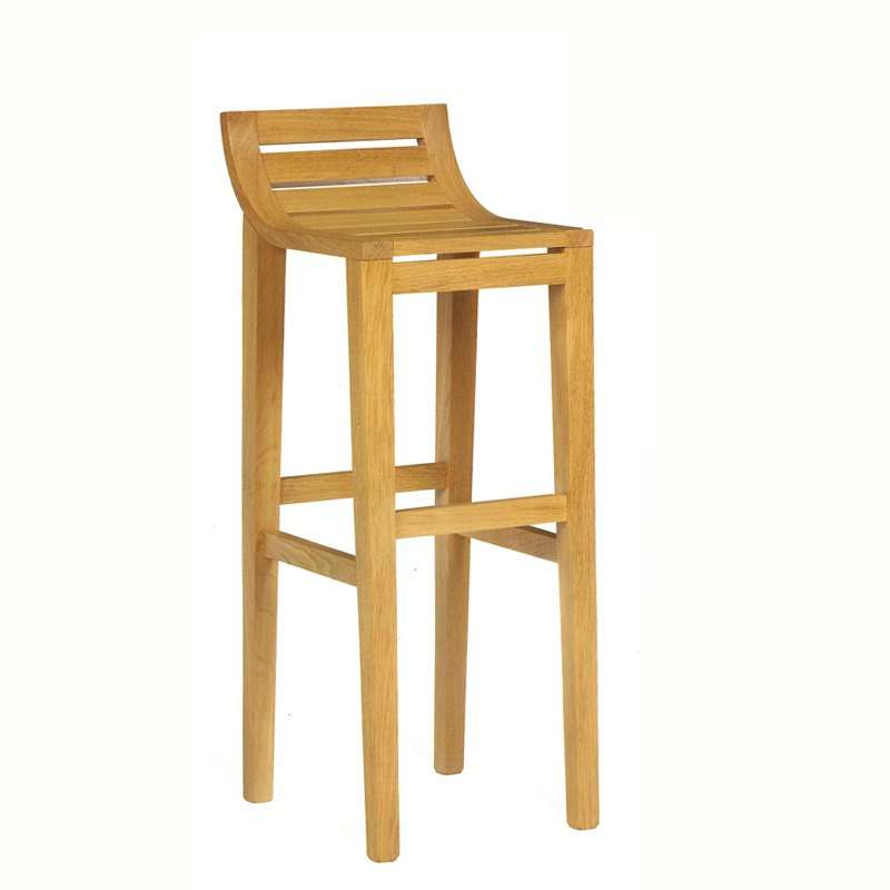 Tabouret de bar ou snack contemporain en ch ne assise bois 4 pieds tables - Tabouret de bar chene ...