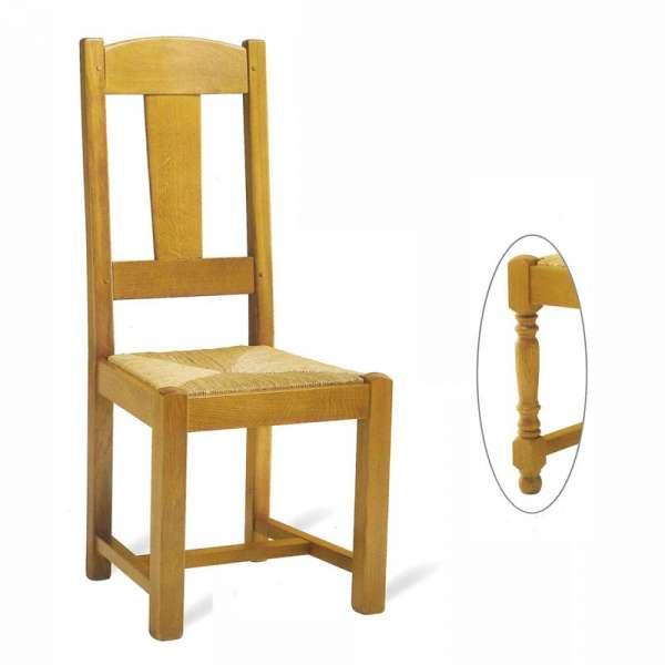 Chaise de salle à manger en bois rustique - 740 742