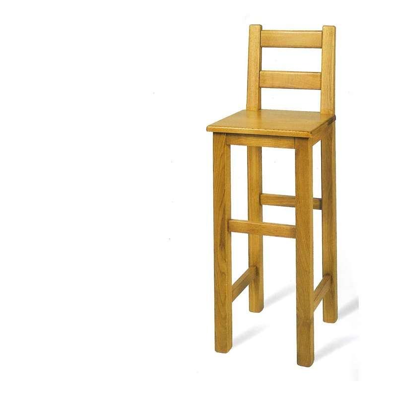 Tabouret de bar rustique en bois massif ref 431 441 4 pieds tables chaises et tabourets - Bar en bois massif ...