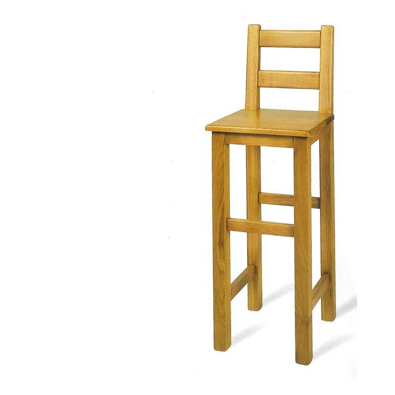 Tabouret de bar rustique en ch ne 4 pieds tables - Tabouret de bar en bois brut ...