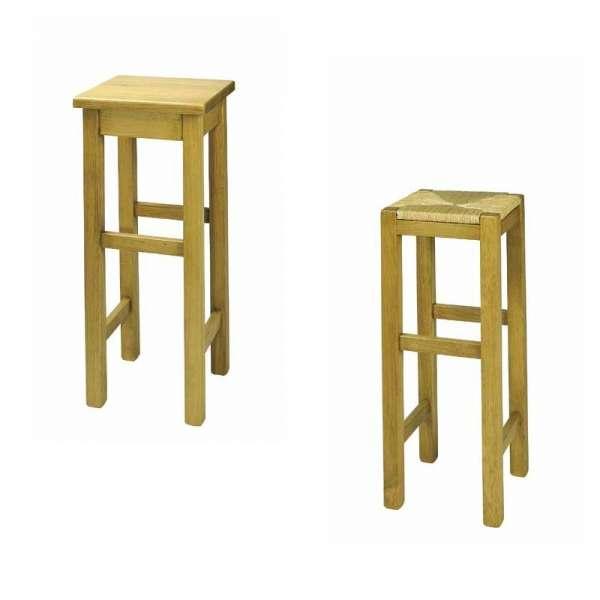 tabouret de bar rustique en bois massif ref 431 441 4 pieds tables chaises et tabourets. Black Bedroom Furniture Sets. Home Design Ideas