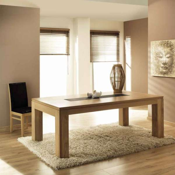 table de salle manger en ch ne massif extensible baobab 4 pieds tables chaises et tabourets. Black Bedroom Furniture Sets. Home Design Ideas