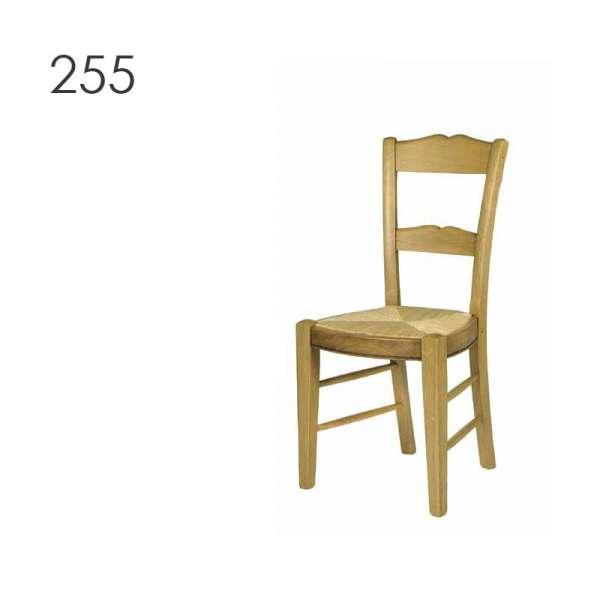 Chaise de salle à manger en bois rustique en chêne - 3