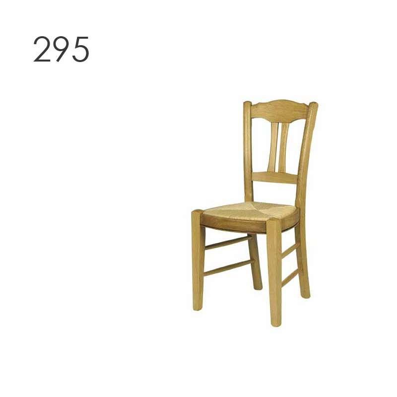 Chaise de salle manger en bois rustique en ch ne 290 for Chaise de salle a manger en chene