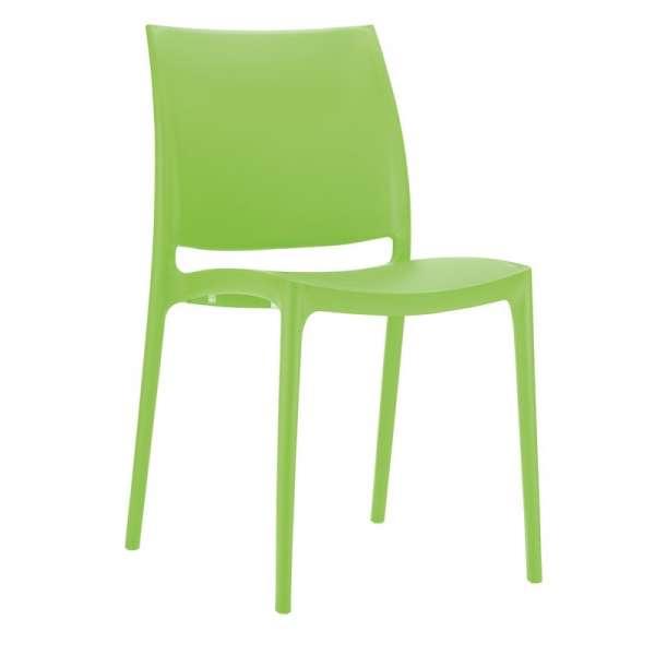 Chaise verte en plastique polypropylène - Maya - 15