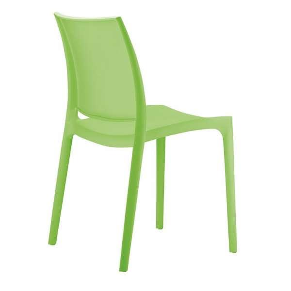 Chaise verte en plastique - Maya - 16