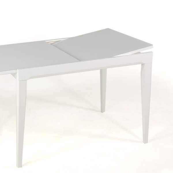Table Fly extensible Blanche - Plateau verre - Hauteur 90cm - 5