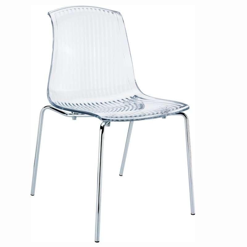 Chaise design en plexi transparent allegra 4 pieds for Chaise design plexi transparent