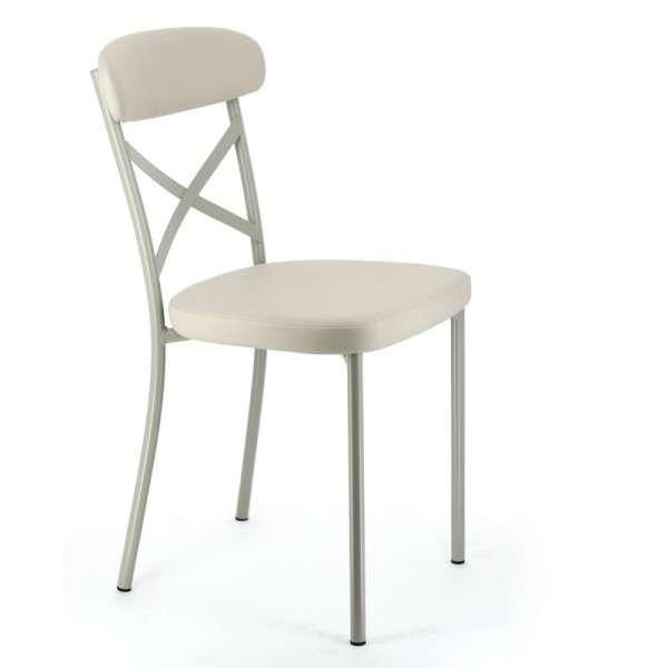 Cuisine Design Ouverte Sur Salon : Chaise de cuisine en vinyle et métal  Calia  4 Pieds  tables