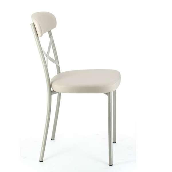 Chaise de cuisine en vinyle et métal  Calia  4 Pieds  tables