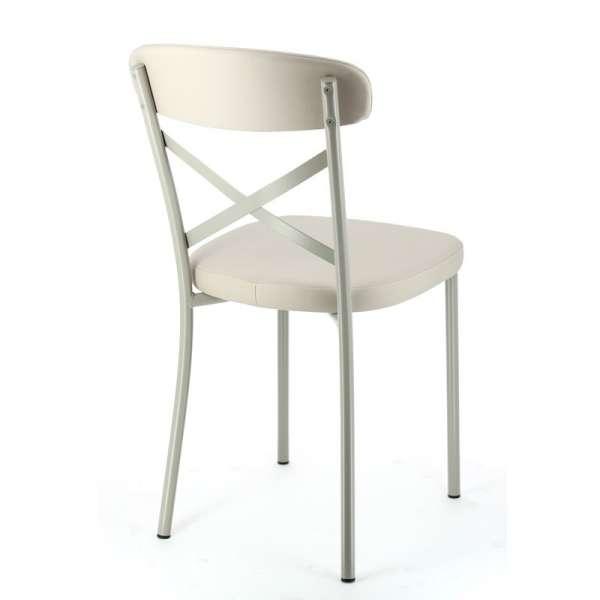 Chaise de cuisine en vinyl et métal - Calia 4 - 4
