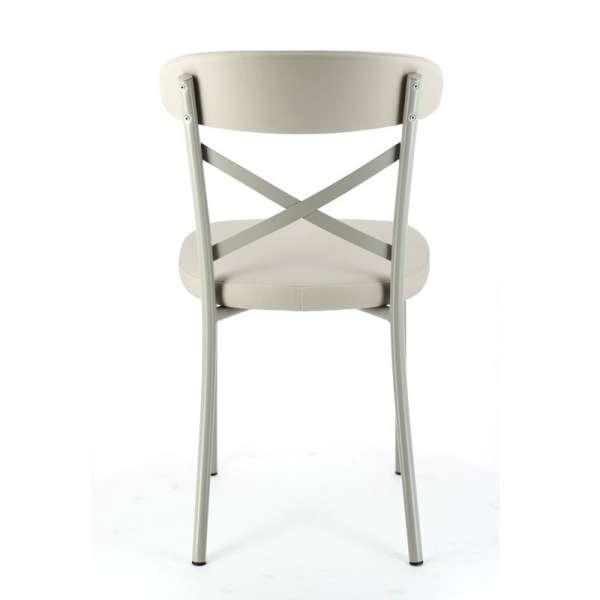 Chaise de cuisine en vinyl et métal - Calia 5 - 5