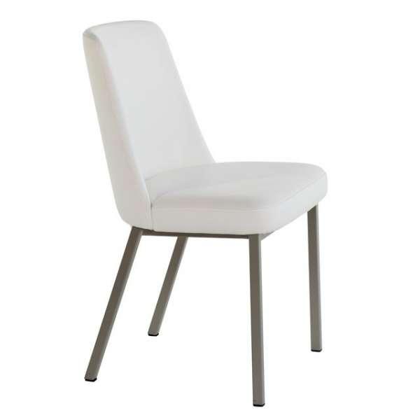 Chaise contemporaine en métal et vinyle - Elizé