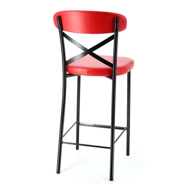 tabouret snack de cuisine en m tal et vinyl calia 4 pieds tables chaises et tabourets. Black Bedroom Furniture Sets. Home Design Ideas