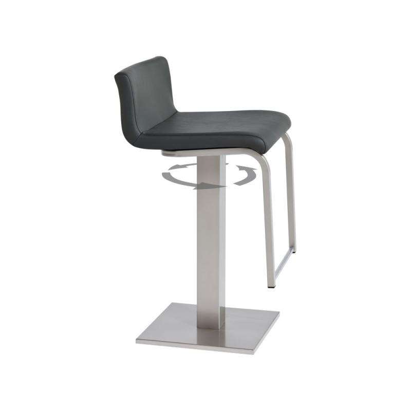 tabouret de bar cuisine tabouret de bar de cuisine en m tal roma 4 pieds tables chaises. Black Bedroom Furniture Sets. Home Design Ideas