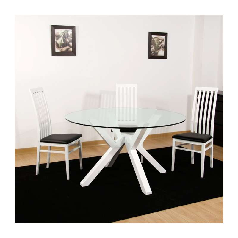 4 pieds vente en ligne - Table en verre ronde ...