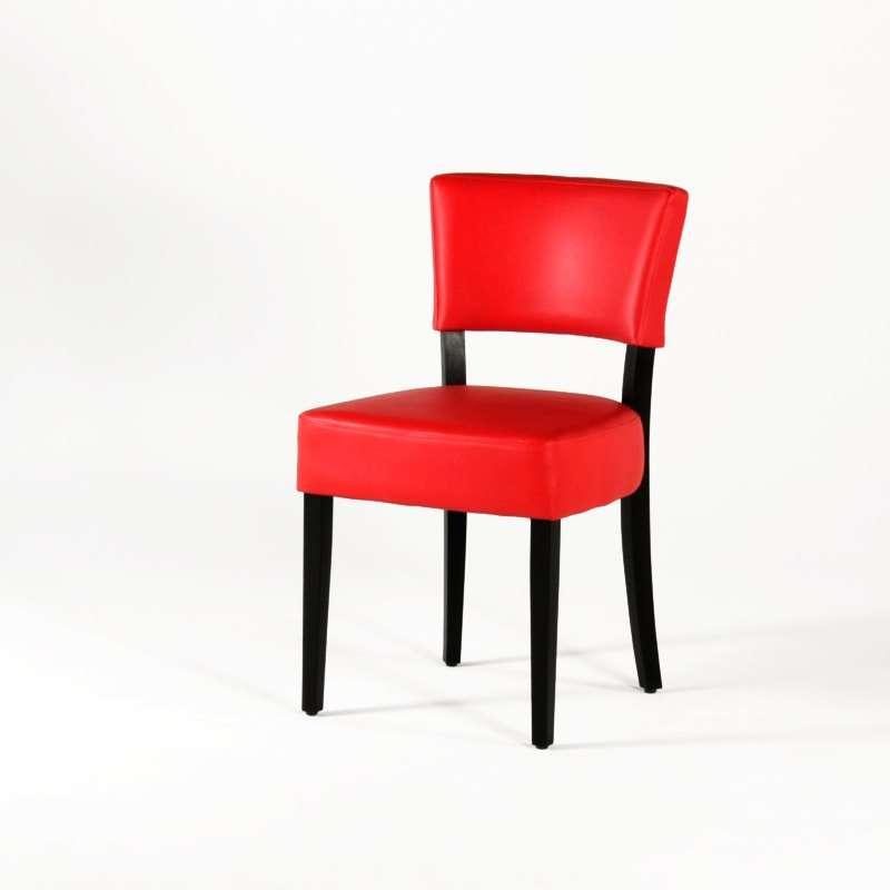 chaise contemporaine en vinyl et bois steffi 4 pieds. Black Bedroom Furniture Sets. Home Design Ideas