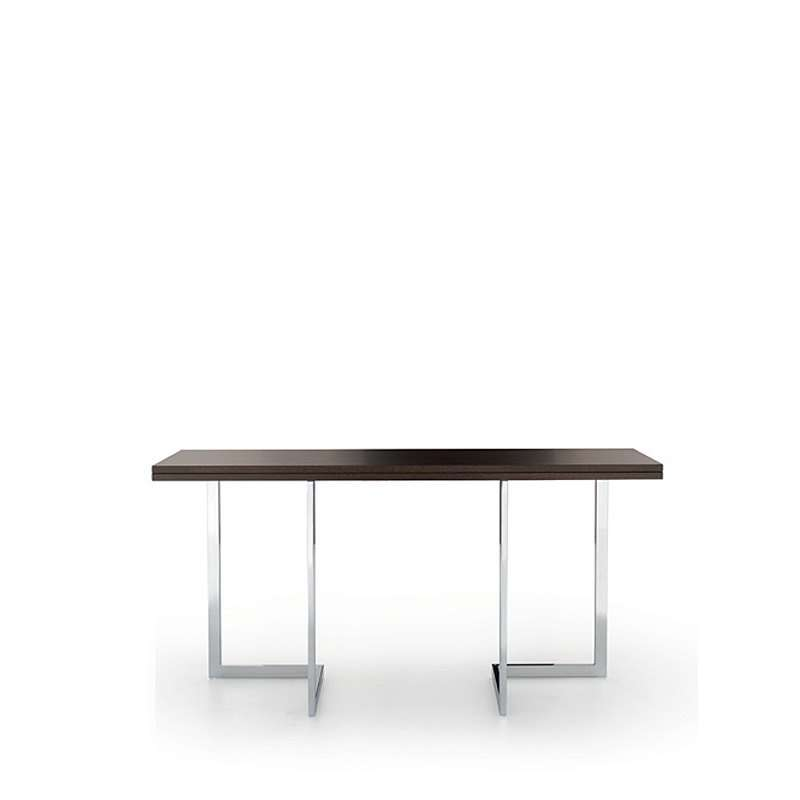 Table console design modulable en bois et m tal giravolta 150 4 pieds t - Table modulable design ...