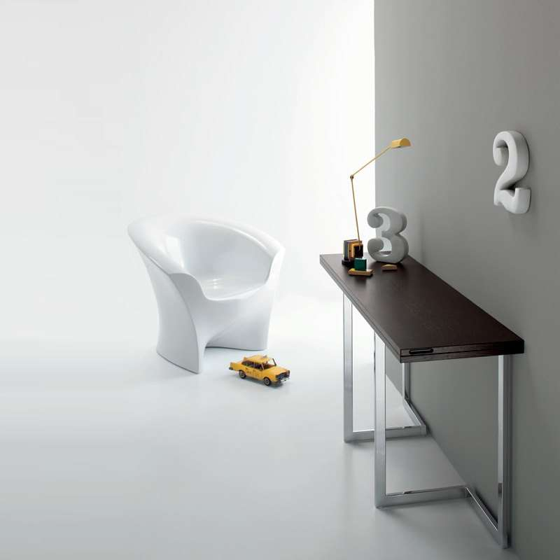 table console modulable contemporaine giravolta 180 4 pieds tables chaises et tabourets. Black Bedroom Furniture Sets. Home Design Ideas