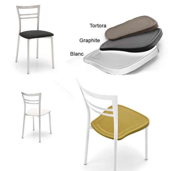 Chaise rembourrée en métal - Go - 9