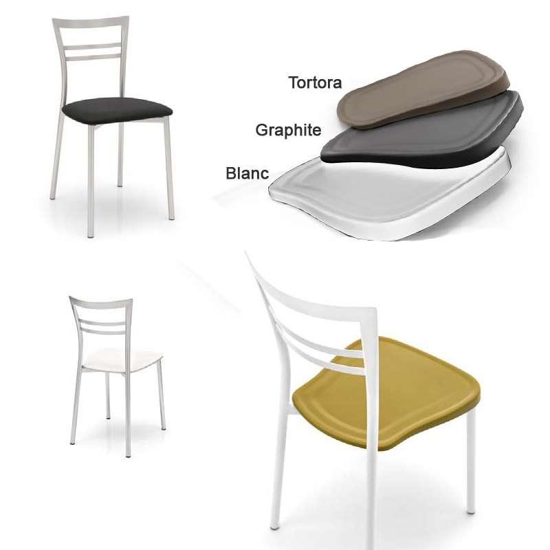 chaise de cuisine design en m tal go 4 pieds tables. Black Bedroom Furniture Sets. Home Design Ideas
