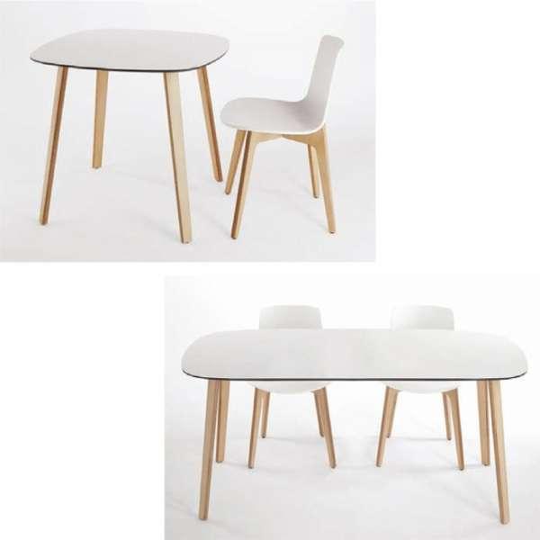 Chaise design en polypropylène et piètement bois Lottus - 5