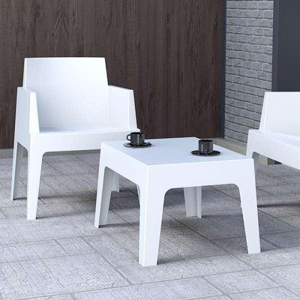 Table basse de jardin en polypropylène - Box