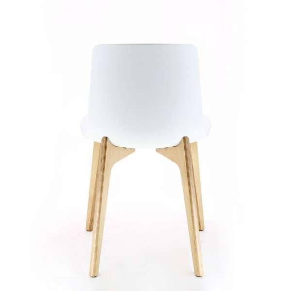 Chaise design en polypropylène et piètement bois Lottus - 7