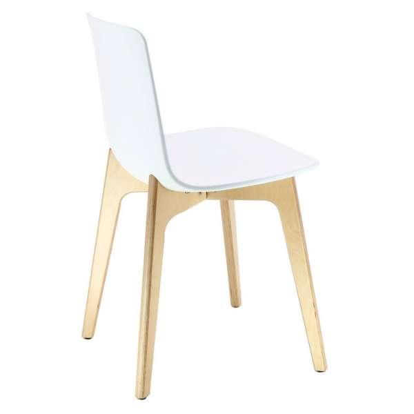 Chaise design en polypropylène et piètement bois Lottus - 8